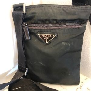 Prada Brown Nylon Cross Body Bag